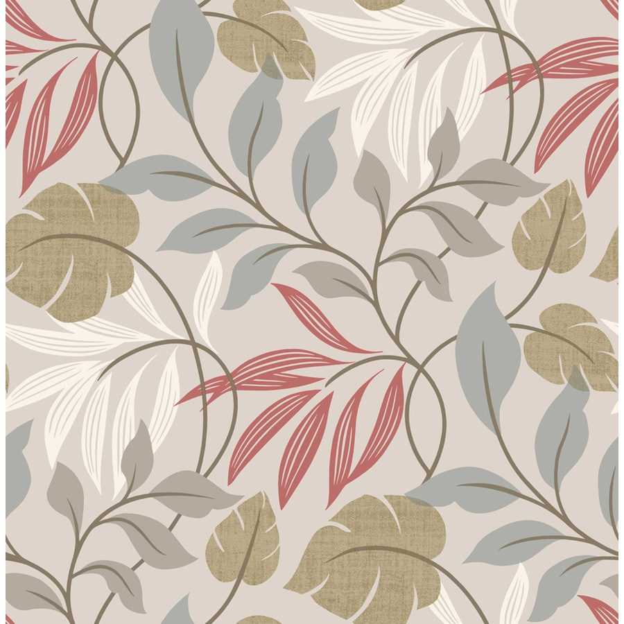 Brewster Wallcovering Grey Non-Woven Ivy/Vines Wallpaper