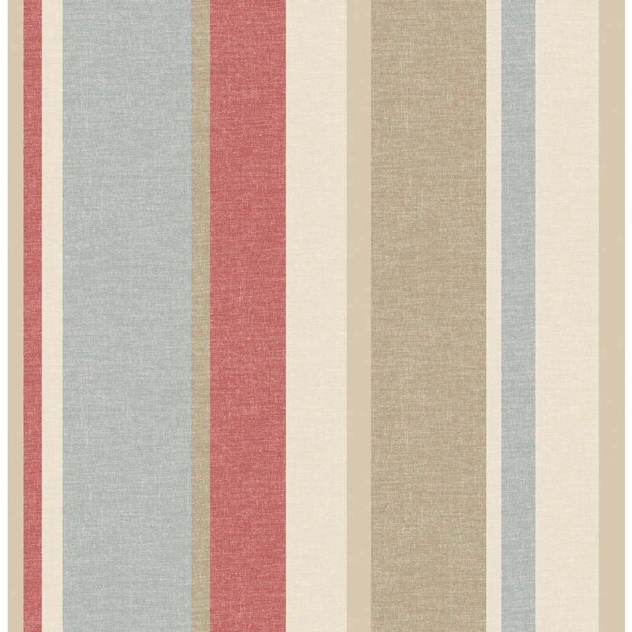 Brewster Wallcovering Taupe Paper Stripes Wallpaper