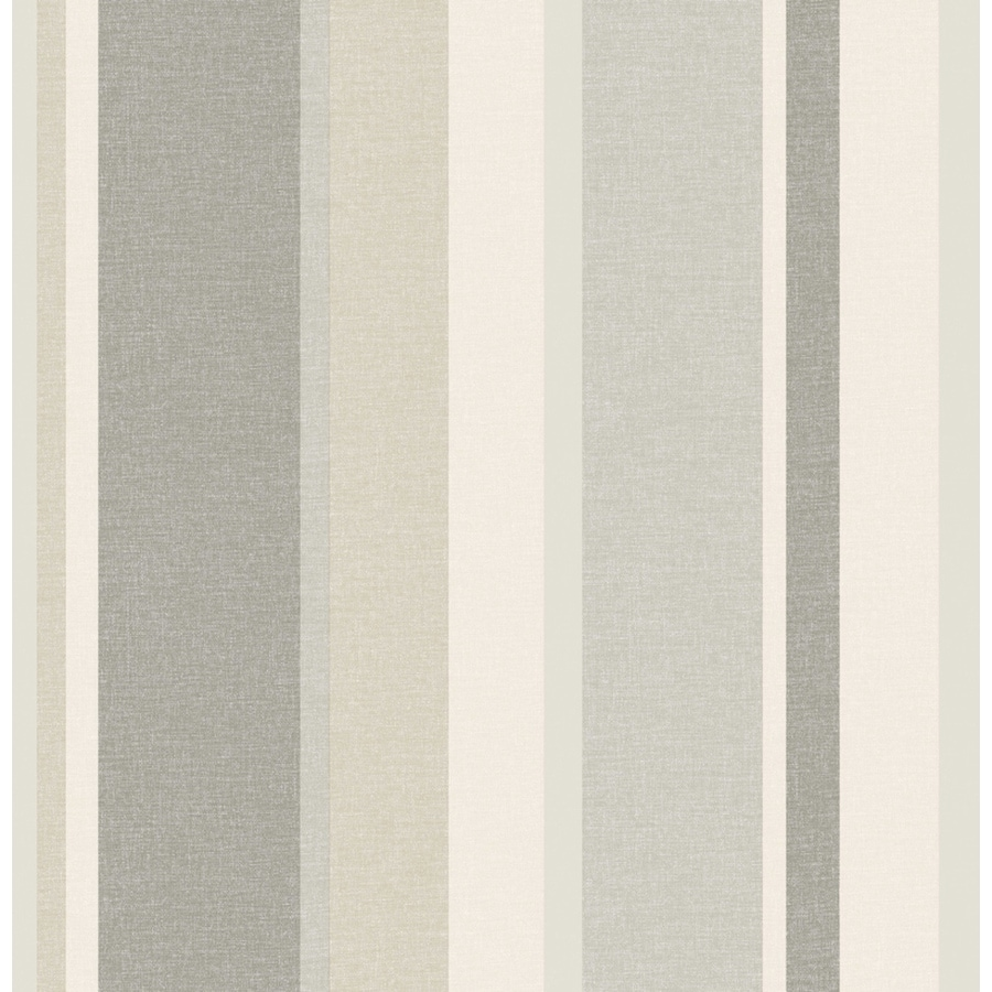 Brewster Wallcovering Grey Non-Woven Stripes Wallpaper
