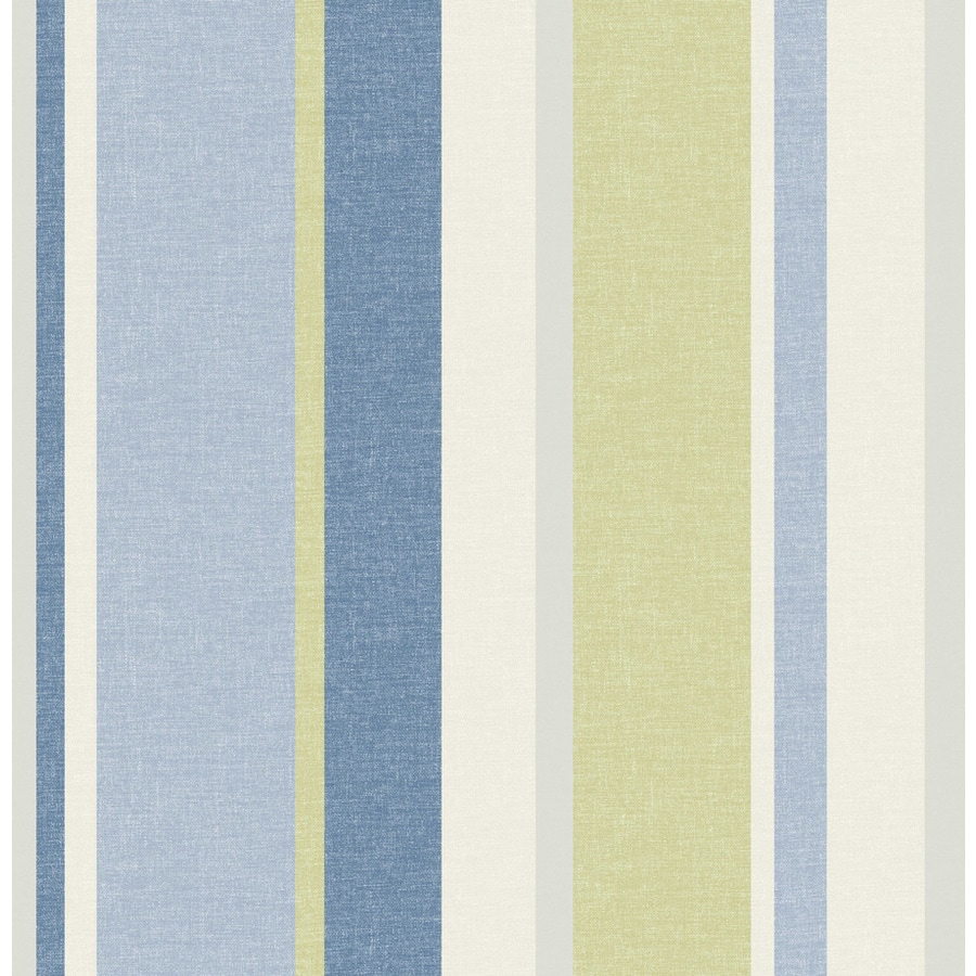 Brewster Wallcovering Blue Paper Stripes Wallpaper