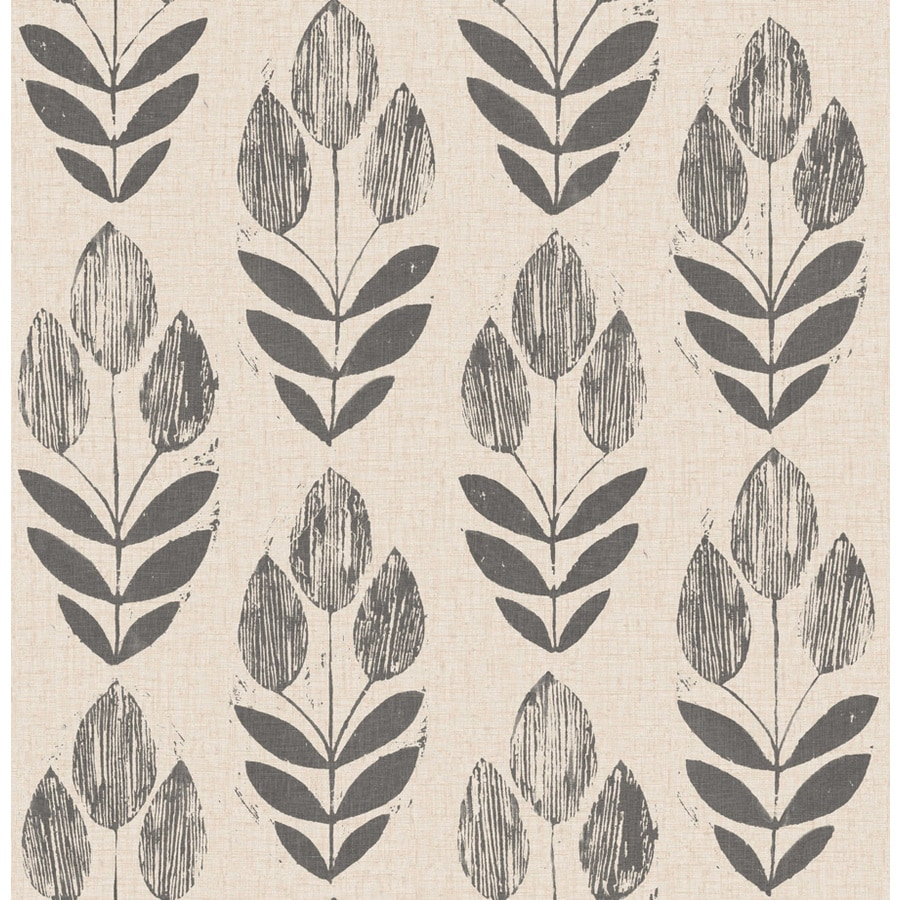 Brewster Wallcovering 33-sq ft Charcoal Non-Woven Floral  Wallpaper