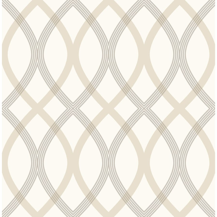 Brewster Wallcovering Taupe Non-Woven Geometric Wallpaper