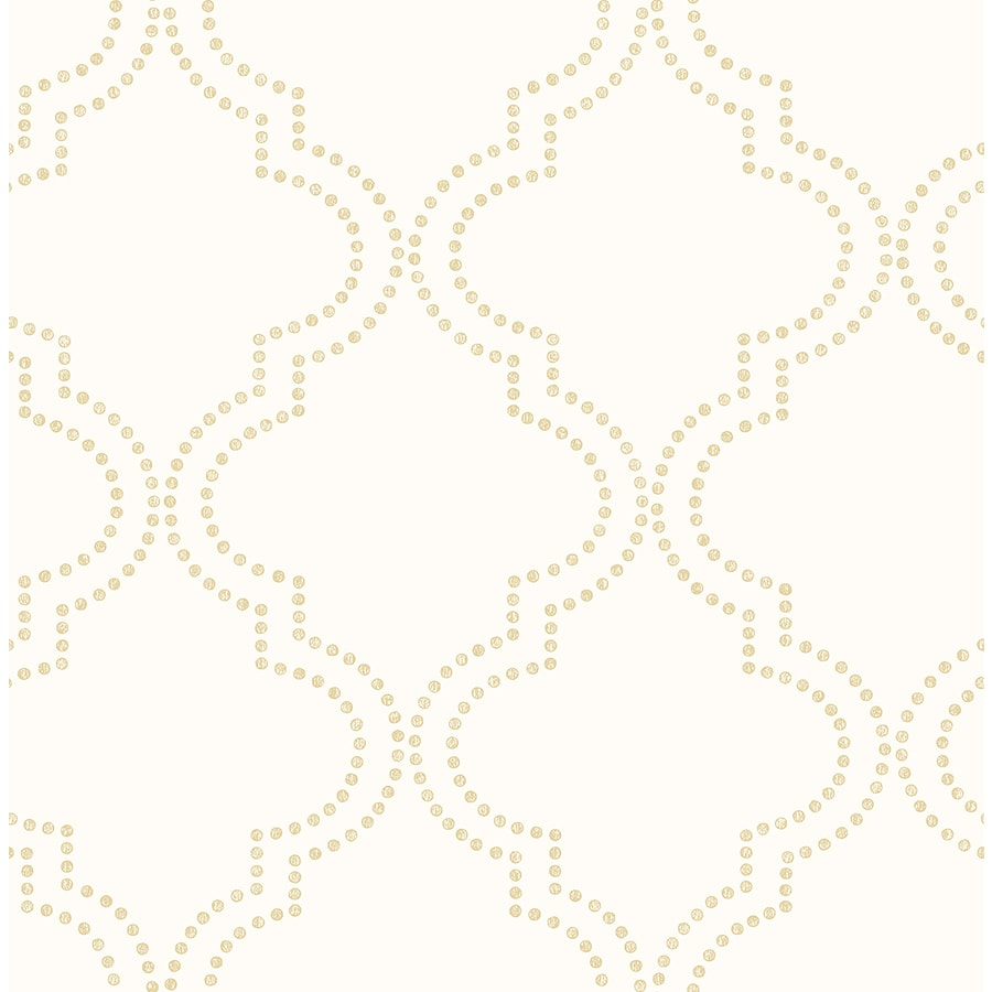 Brewster Wallcovering Cream Paper Geometric Wallpaper