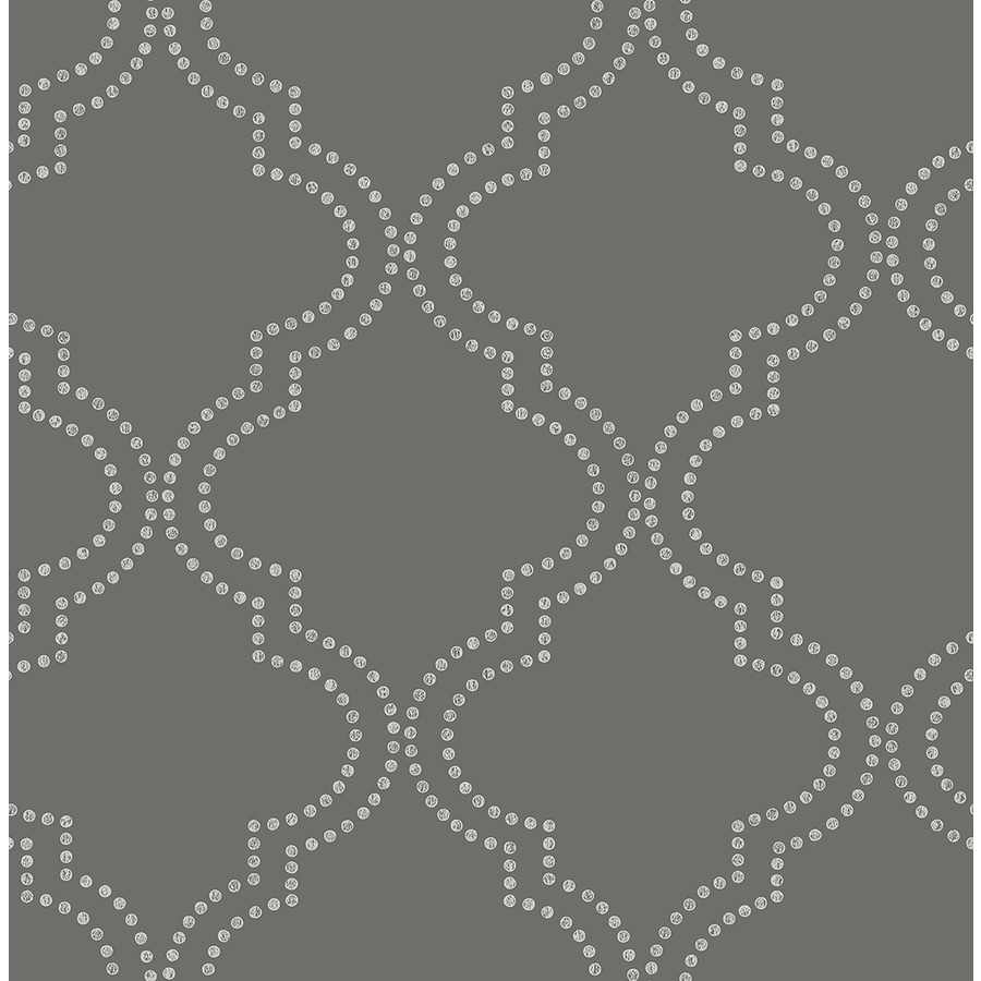 Brewster Wallcovering Symetrie Charcoal Non-Woven Geometric Wallpaper