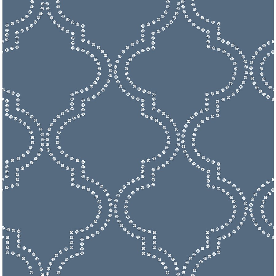 Brewster Wallcovering Symetrie 56-sq ft Blue Non-Woven Geometric  Wallpaper
