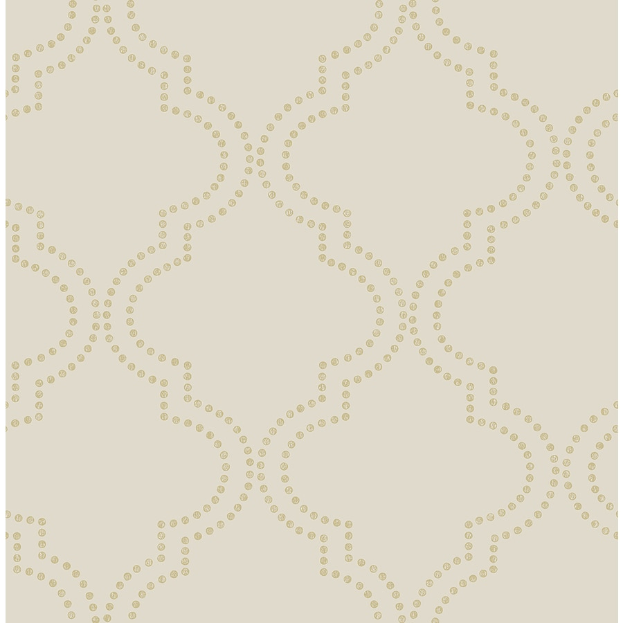Brewster Wallcovering Symetrie 56-sq ft Beige Non-Woven Geometric  Wallpaper