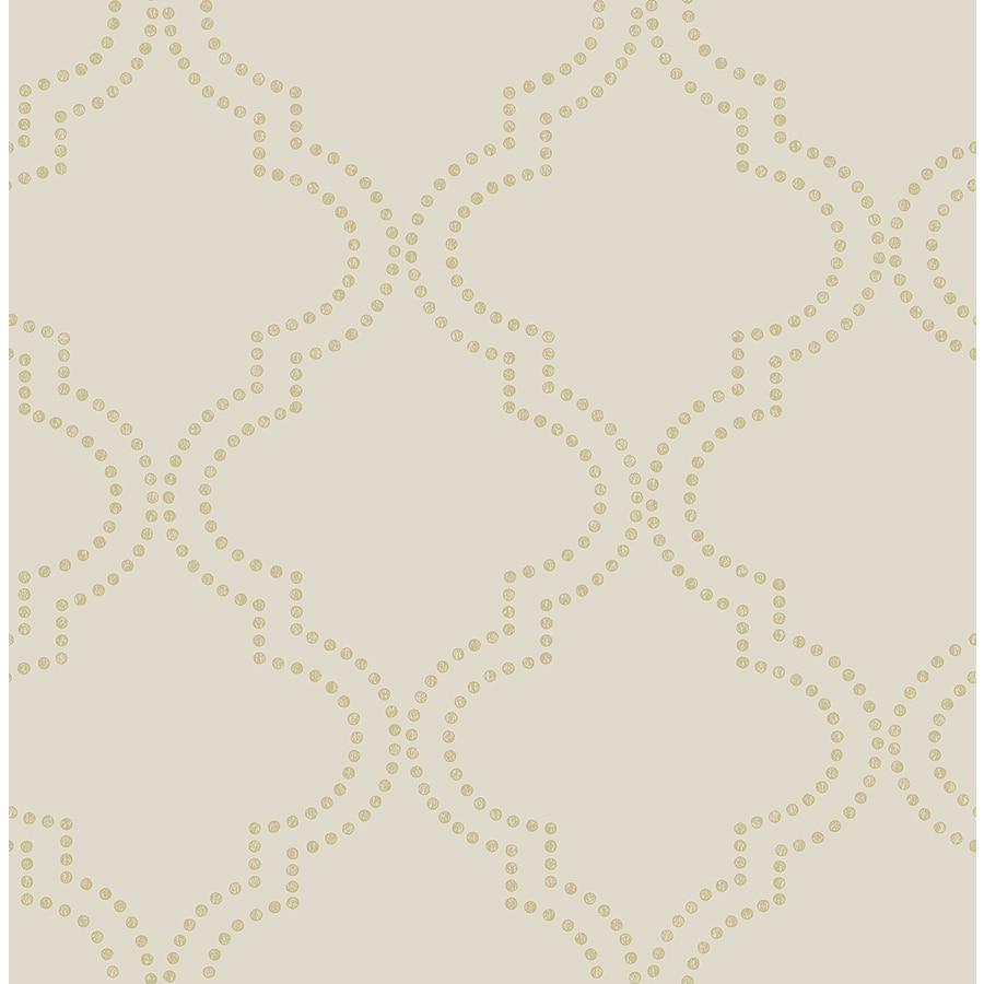 Brewster Wallcovering Symetrie Beige Non-Woven Geometric Wallpaper