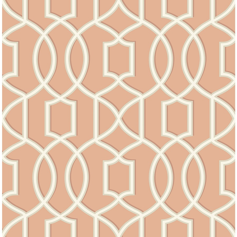 Brewster Wallcovering Coral Paper Geometric Wallpaper