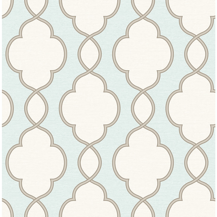 Brewster Wallcovering Turquoise Paper Geometric Wallpaper