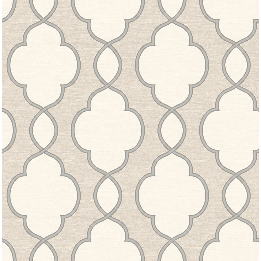 Brewster Wallcovering Light Brown Paper Geometric Wallpaper