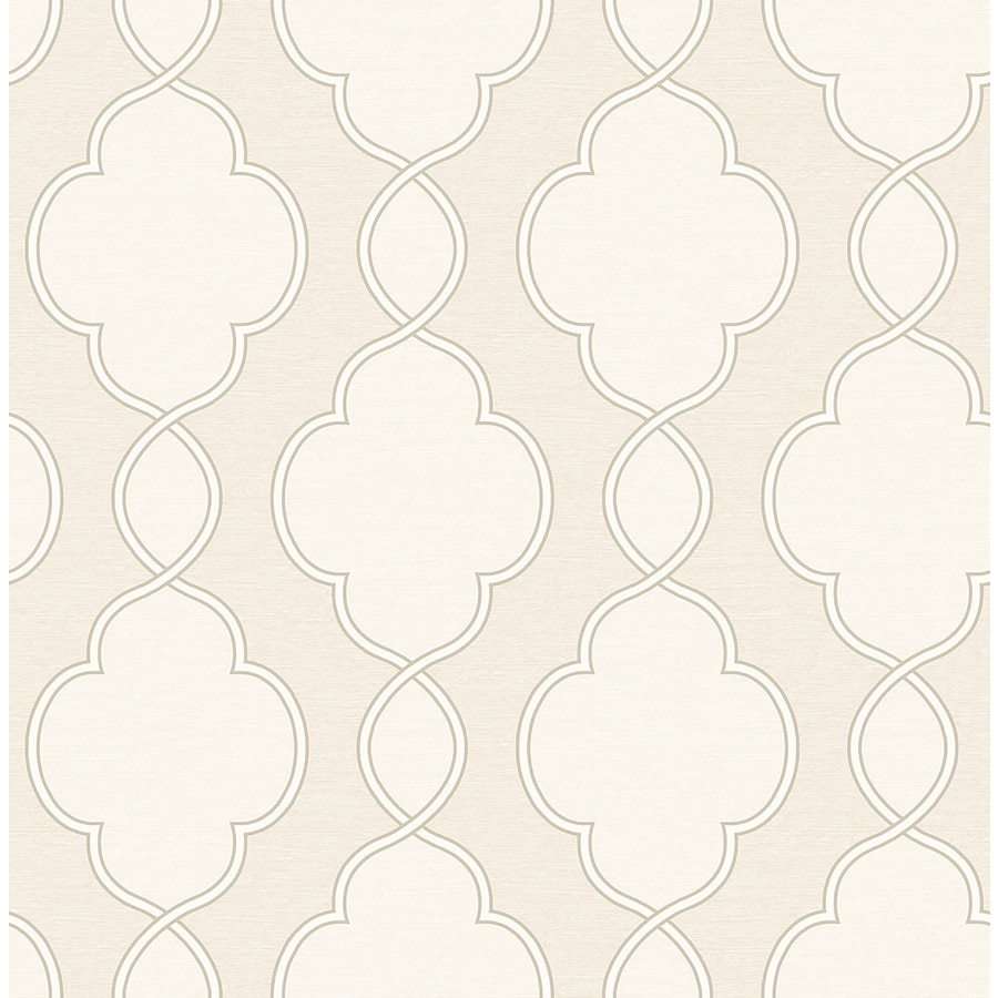 Brewster Wallcovering Symetrie Cream Non-Woven Geometric Wallpaper