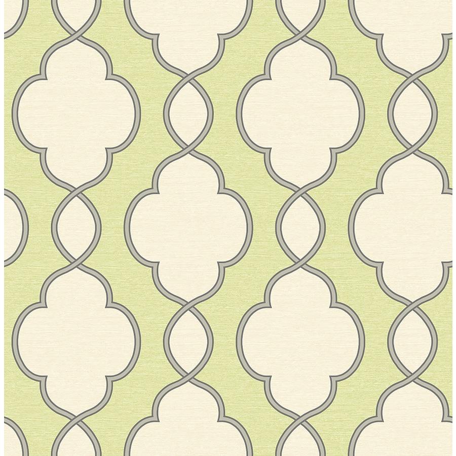Brewster Wallcovering Symetrie Green Non-Woven Geometric Wallpaper