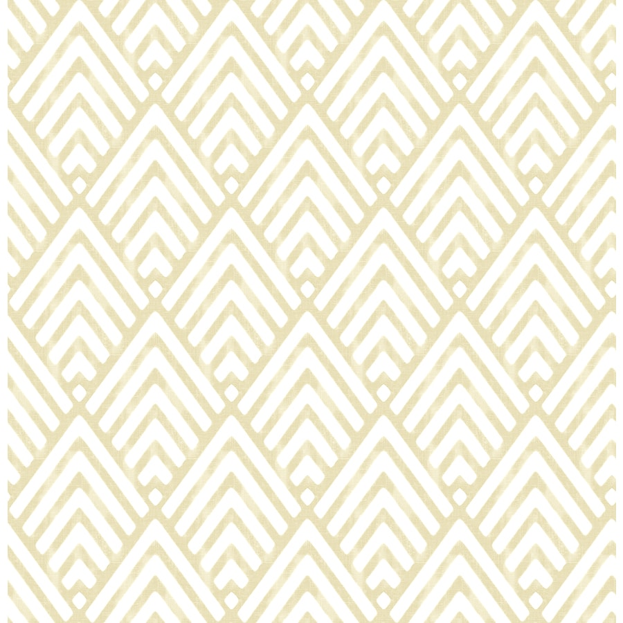 Brewster Wallcovering Symetrie Gold Non-Woven Geometric Wallpaper