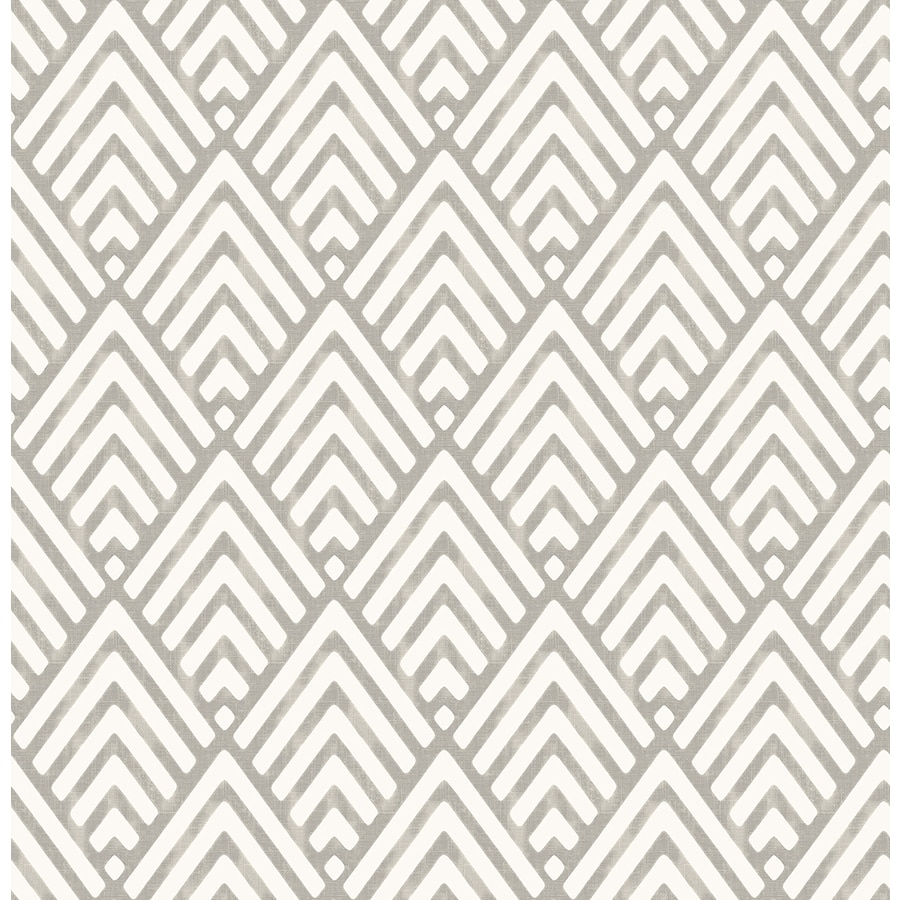 Brewster Wallcovering Charcoal Paper Geometric Wallpaper