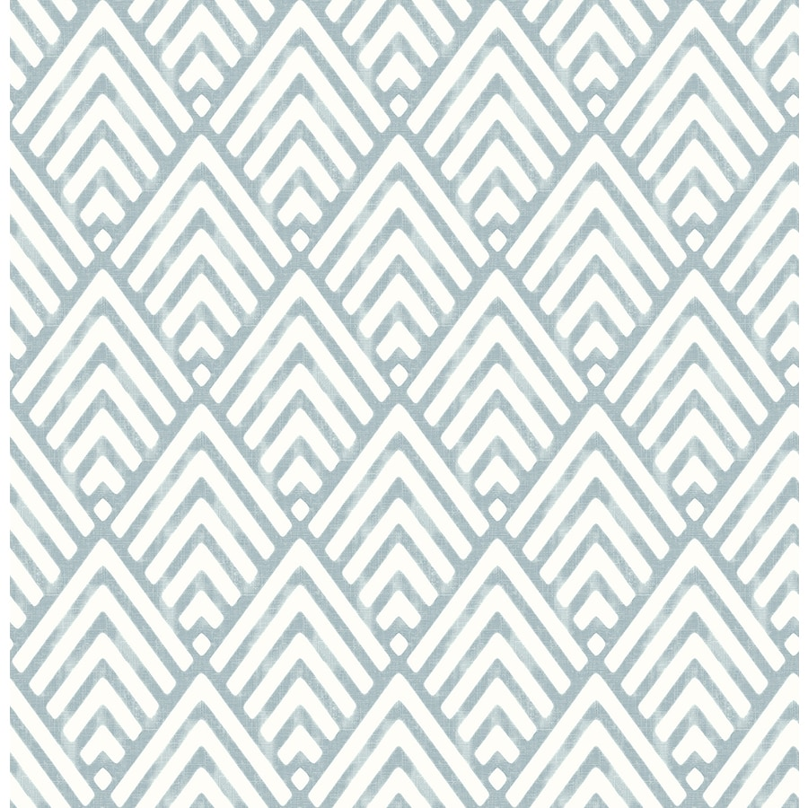 Brewster Wallcovering Symetrie Blue Non-Woven Geometric Wallpaper