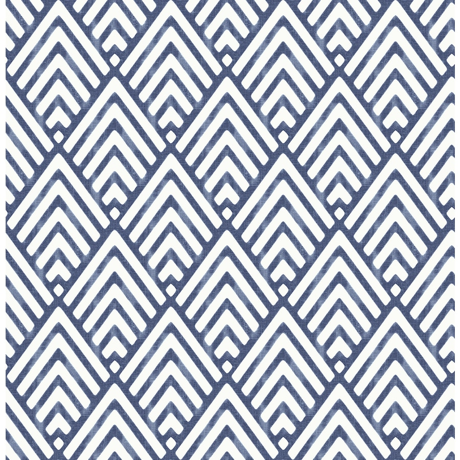 Brewster Wallcovering Symetrie Indigo Non-Woven Geometric Wallpaper