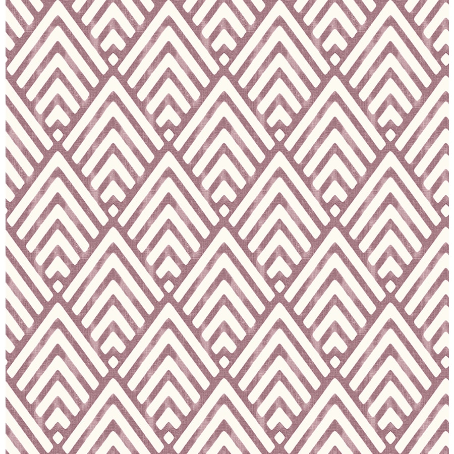 Brewster Wallcovering Burgundy Paper Geometric Wallpaper
