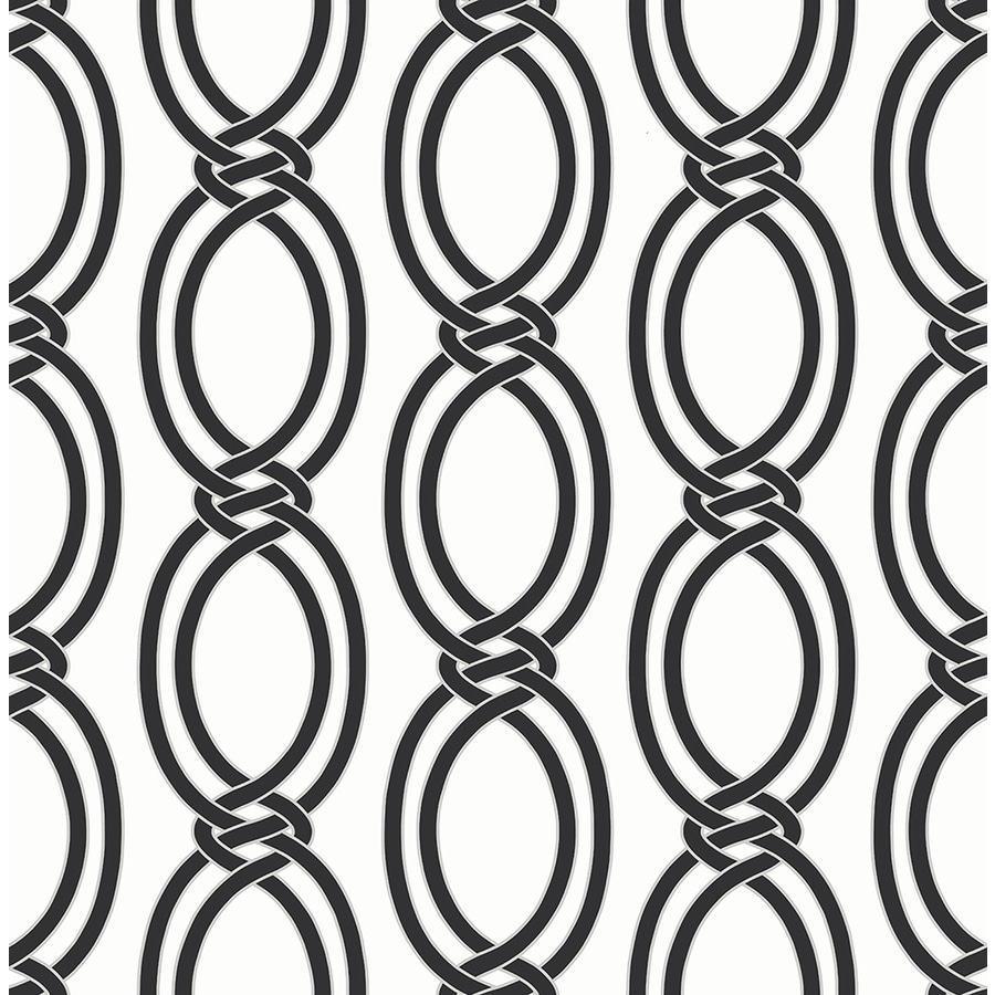 Brewster Wallcovering Symetrie Black Non-Woven Geometric Wallpaper