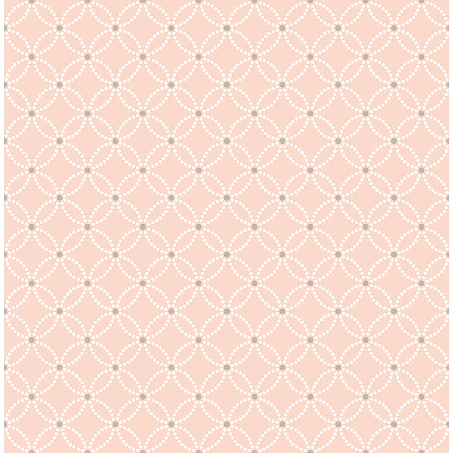 Brewster Wallcovering Symetrie Salmon Non-Woven Geometric Wallpaper