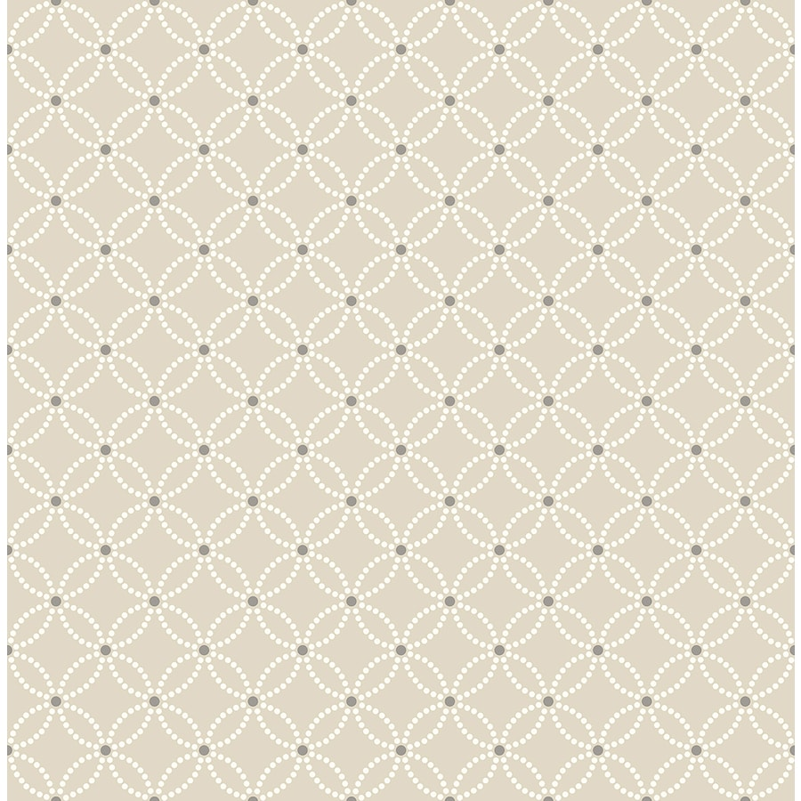 Brewster Wallcovering Symetrie Beige Non-Woven Geometric Wallpaper