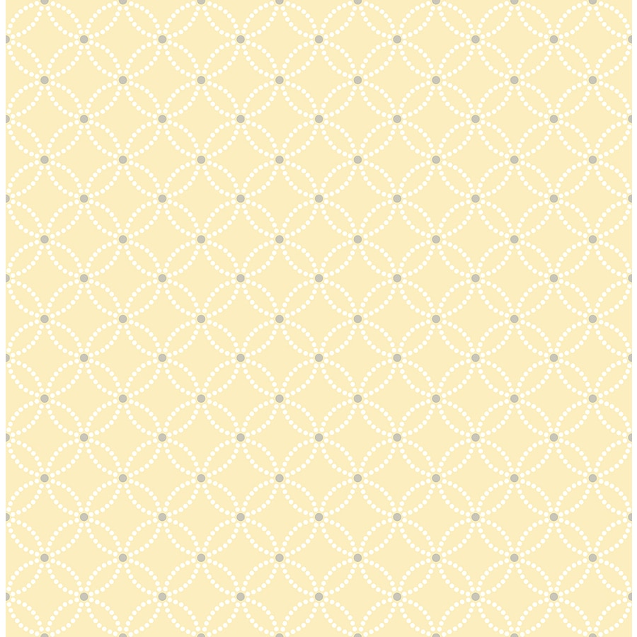 Brewster Wallcovering Symetrie Yellow Non-Woven Geometric Wallpaper