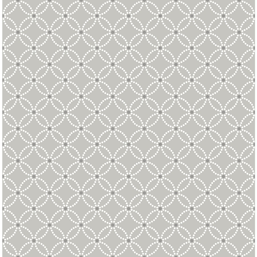Brewster Wallcovering Symetrie 56-sq ft Grey Non-Woven Geometric  Wallpaper