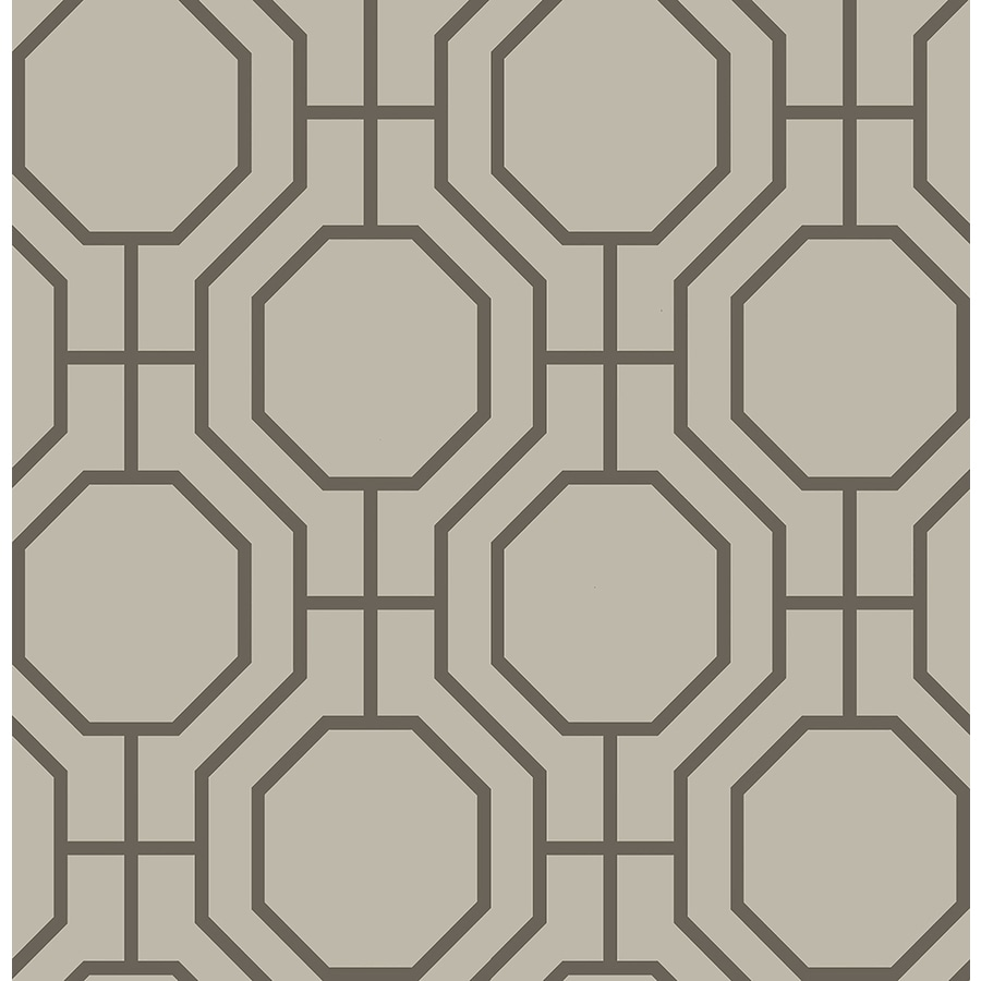 Brewster Wallcovering Taupe Paper Geometric Wallpaper