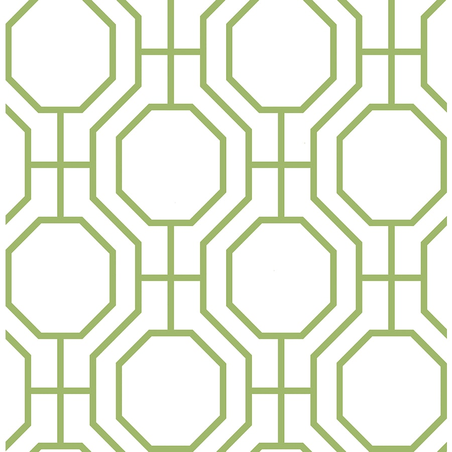 Brewster Wallcovering Symetrie Green Non-Woven Geometric Wallpaper