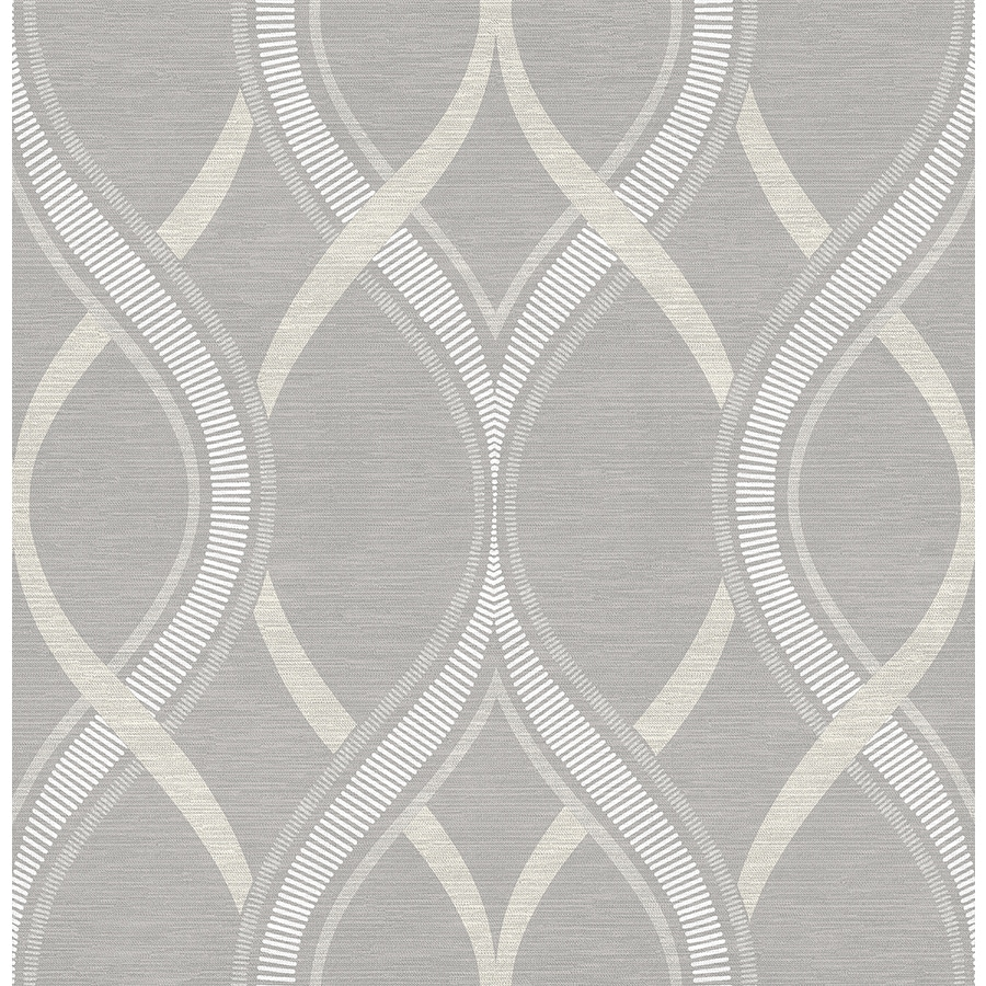 Brewster Wallcovering Grey Paper Geometric Wallpaper