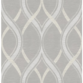 Brewster Wallcovering Symetrie 56 Sq Ft Grey Non Woven Geometric Wallpaper