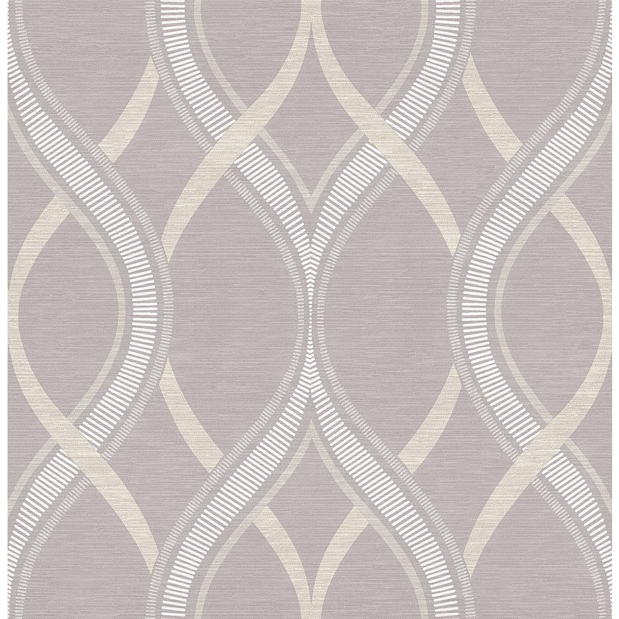 Brewster Wallcovering Lavender Paper Geometric Wallpaper