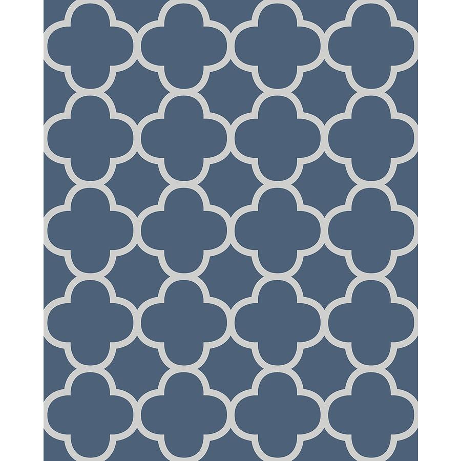 Brewster Wallcovering Blue Paper Geometric Wallpaper