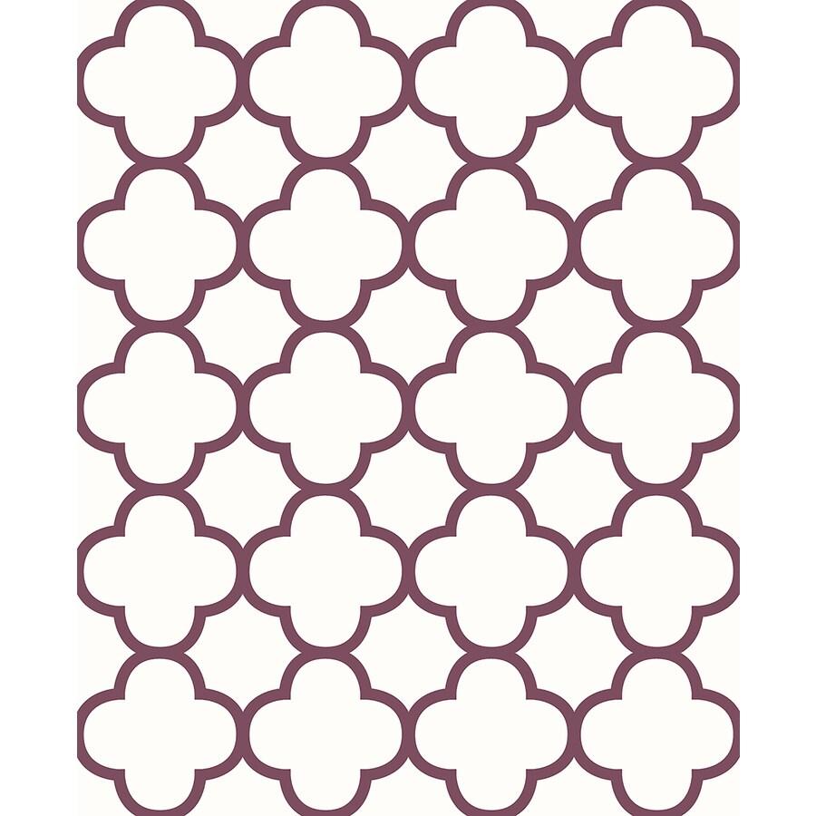 Brewster Wallcovering Symetrie Burgundy Non-Woven Geometric Wallpaper