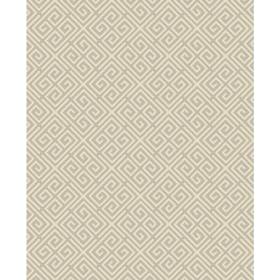 Brewster Wallcovering Symetrie Taupe Non-Woven Geometric Wallpaper