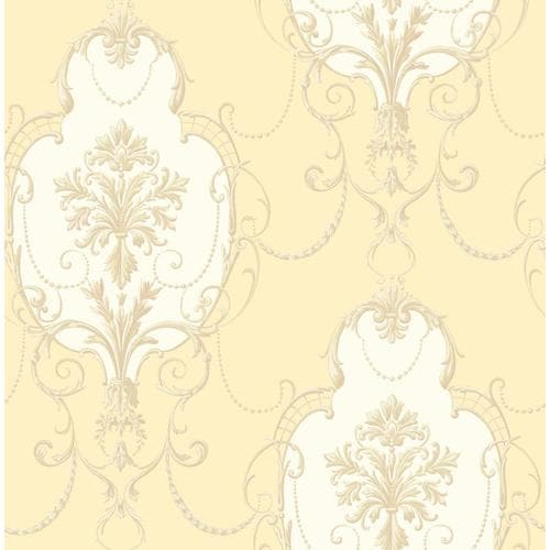 Fine Decor Medley 56.4-sq Ft Yellow Non-Woven Abstract