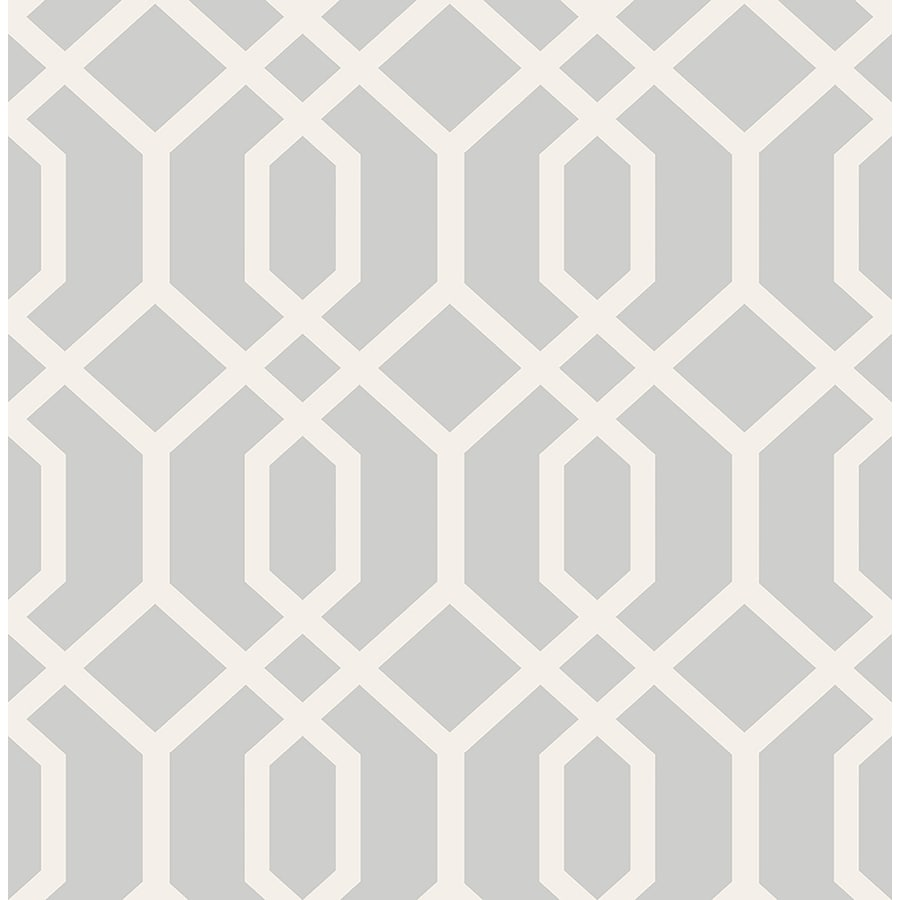 Brewster Wallcovering Brewster Essentials Grey Non-Woven Geometric Wallpaper