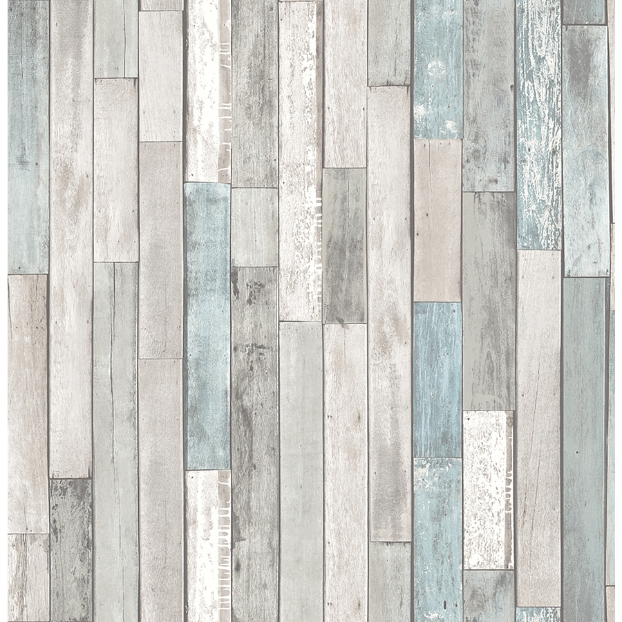 Shop brewster wallcovering brewster essentials 56 sq ft for Brewster wallcovering wood panels mural