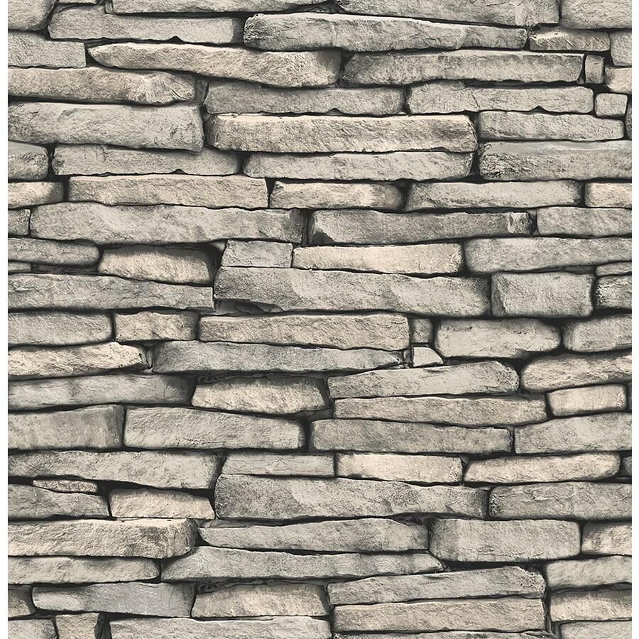 Brewster Wallcovering Brewster Essentials Grey Non-Woven Stone Wallpaper