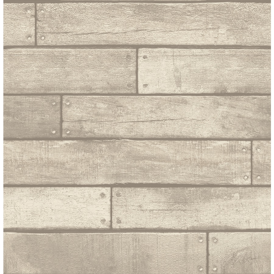 Brewster Wallcovering Brewster Essentials Grey Non-Woven Wood Wallpaper