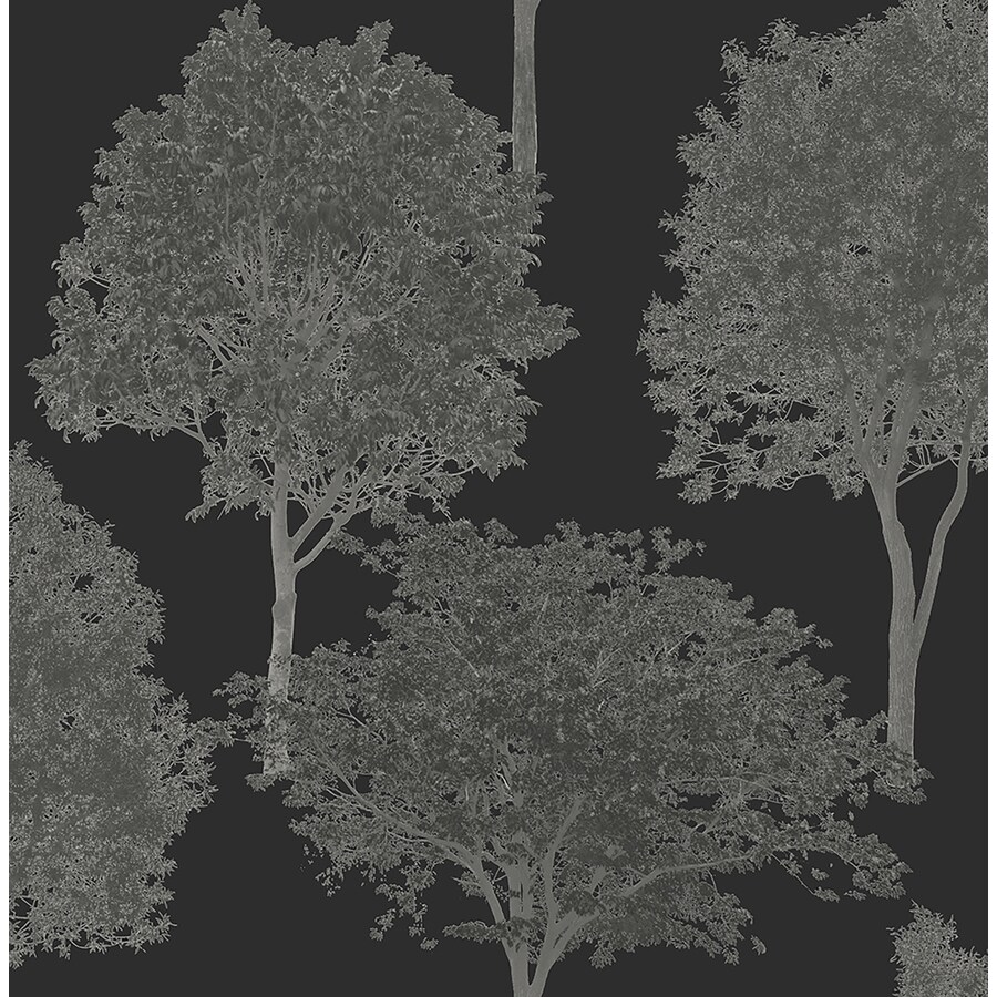 Brewster Wallcovering Brewster Essentials Black Non-Woven Scenic Wallpaper