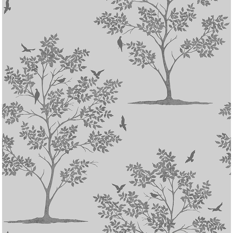 Brewster Wallcovering Brewster Essentials 56-sq ft Grey Non-Woven Scenic  Wallpaper