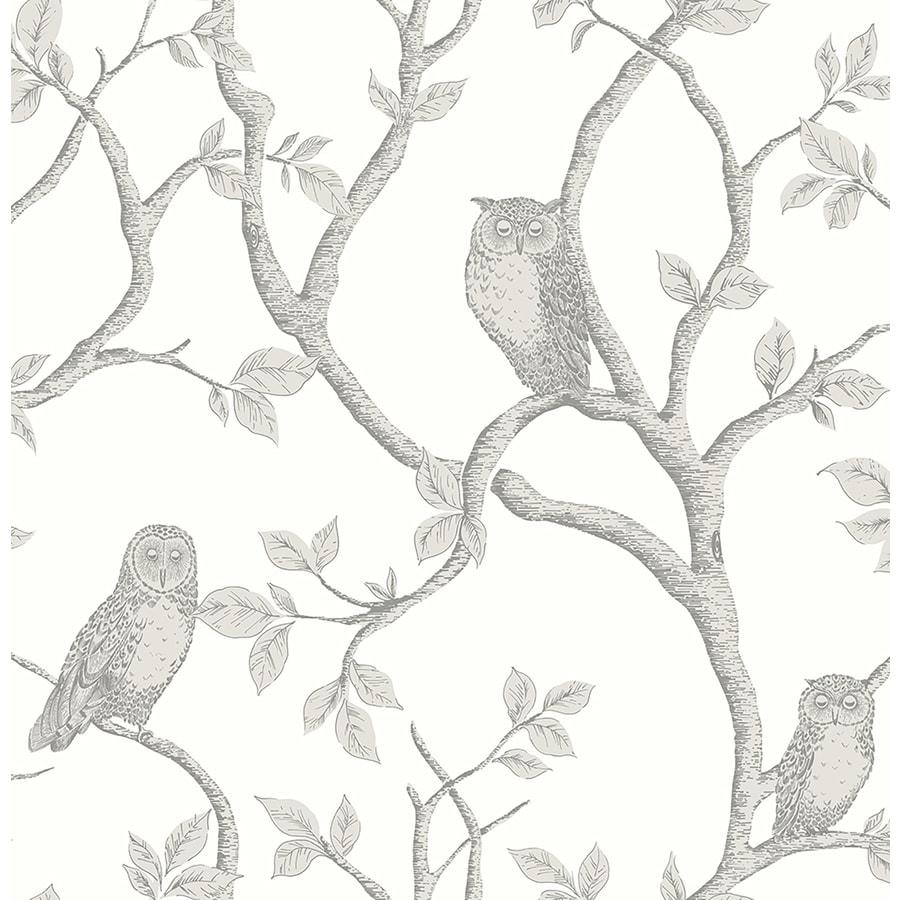 Brewster Wallcovering Brewster Essentials 56-sq ft Grey Non-Woven Birds  Wallpaper