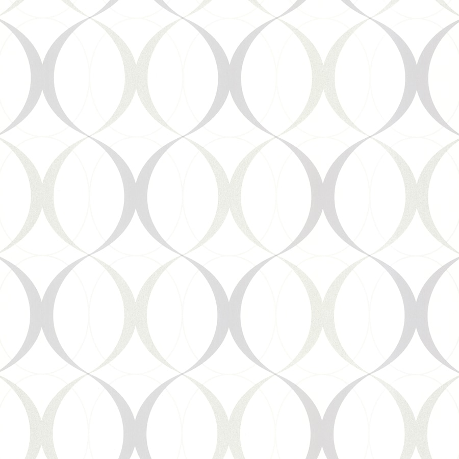 Brewster Wallcovering White Non-Woven Geometric Wallpaper