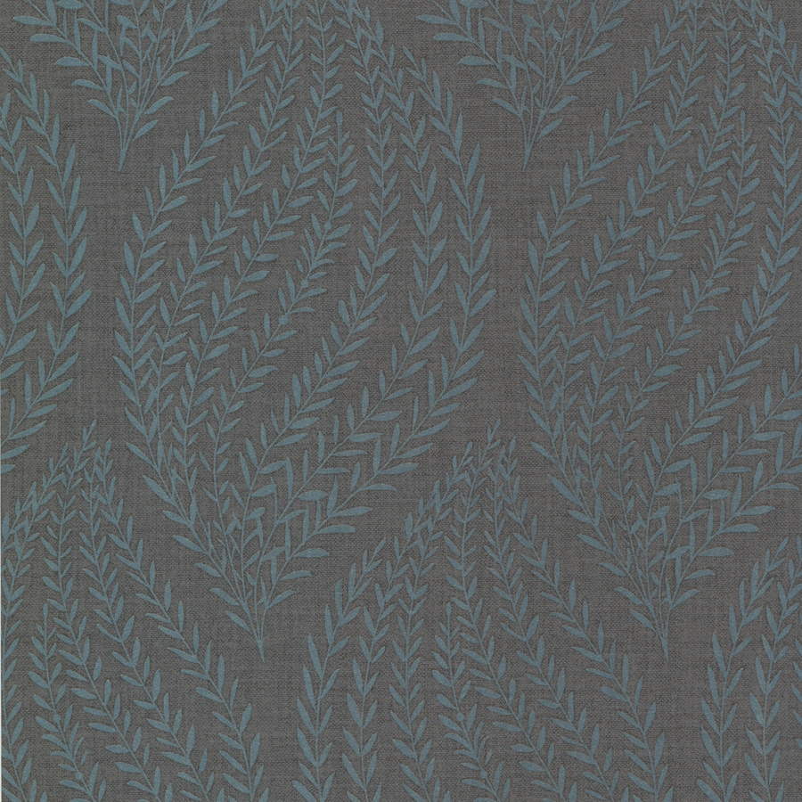 Brewster Wallcovering Teal Non-Woven Ivy/Vines Wallpaper