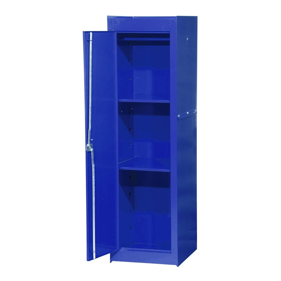 International Tool Storage Tech 15.4-in W x 52-in H x 18.25-in D Blue Steel Full Storage Locker