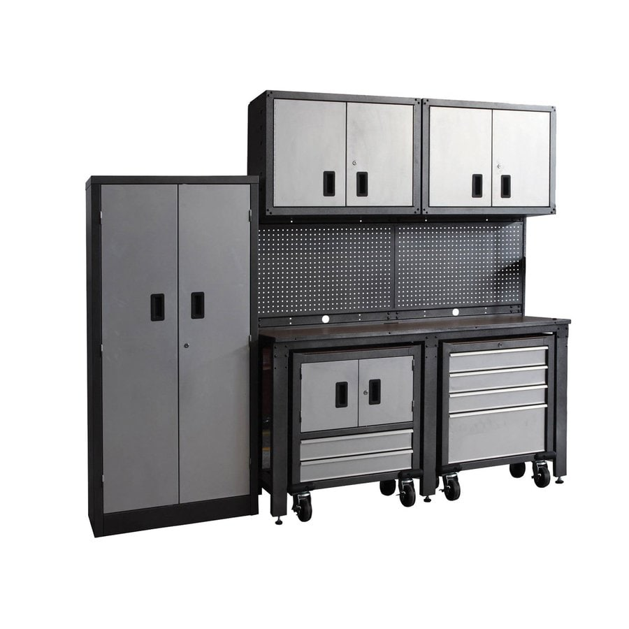 Garage Organization Ideas Lowes Part - 24: International Tool Storage GOS II 95-in W X 80-in H Gray Steel