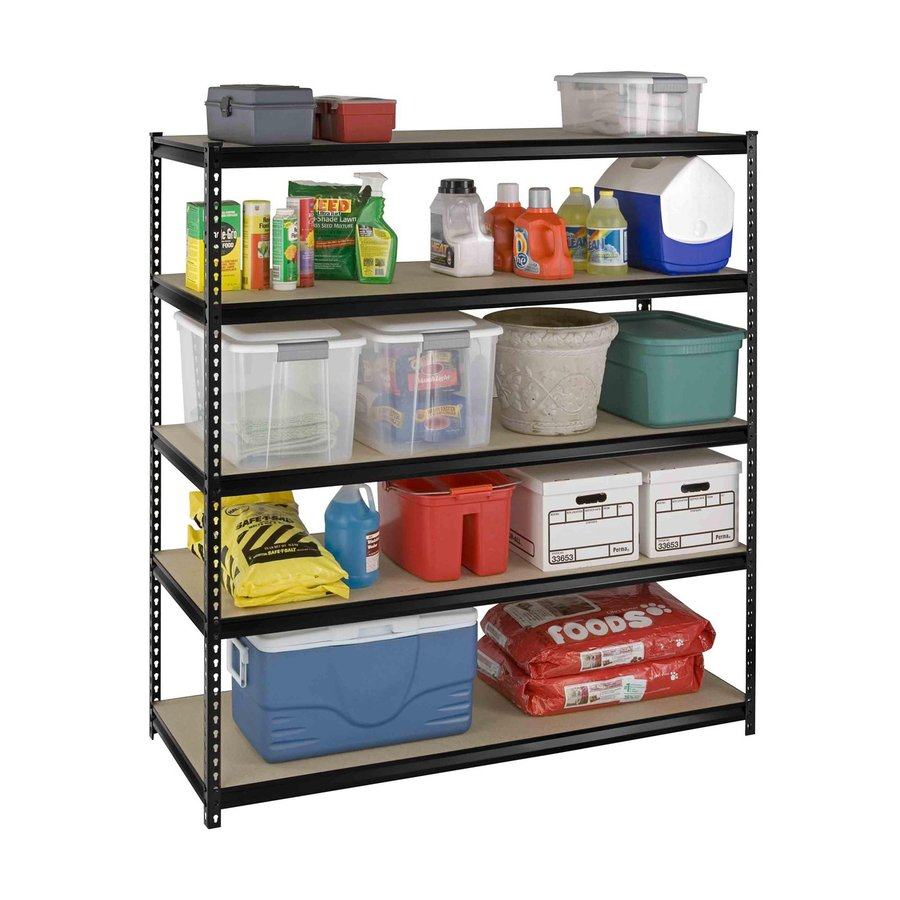 International Tool Storage 72-in H x 66-in W x 24-in D 5-Tier Steel Freestanding Shelving Unit