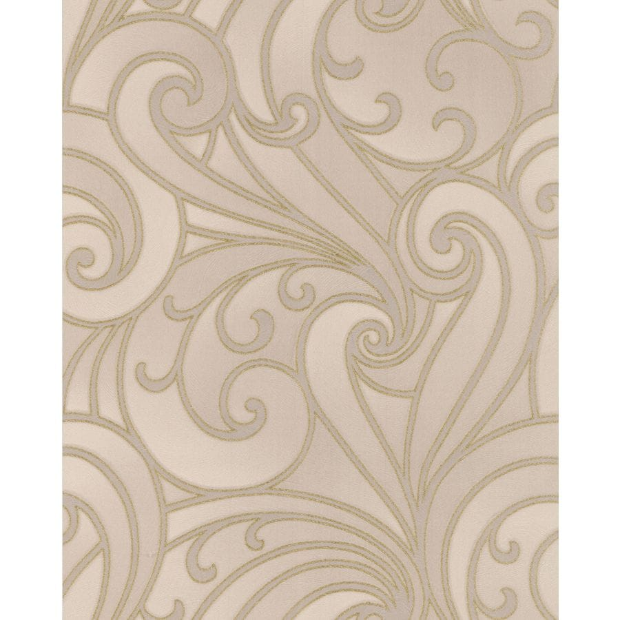 Graham & Brown Ulterior Beige Vinyl Textured Scroll Wallpaper