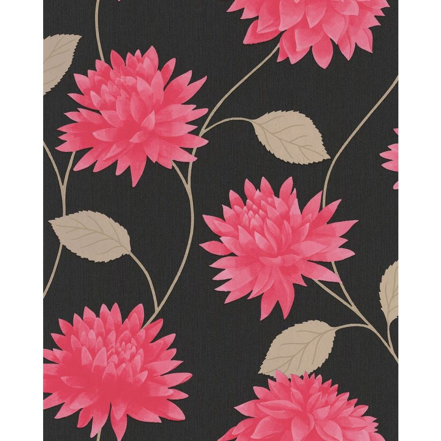 Superfresco Easy Black/Pink Paper Floral Wallpaper