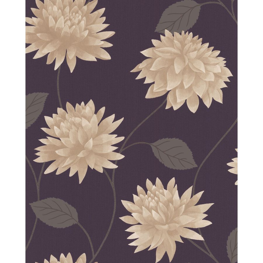 Superfresco Easy Plum Paper Floral Wallpaper